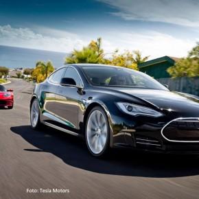 Rädli am 1. Mai - sieben Teslas auf einen Streich