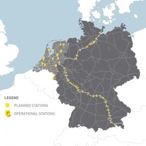 Schnellladestrecke durch Erlangen